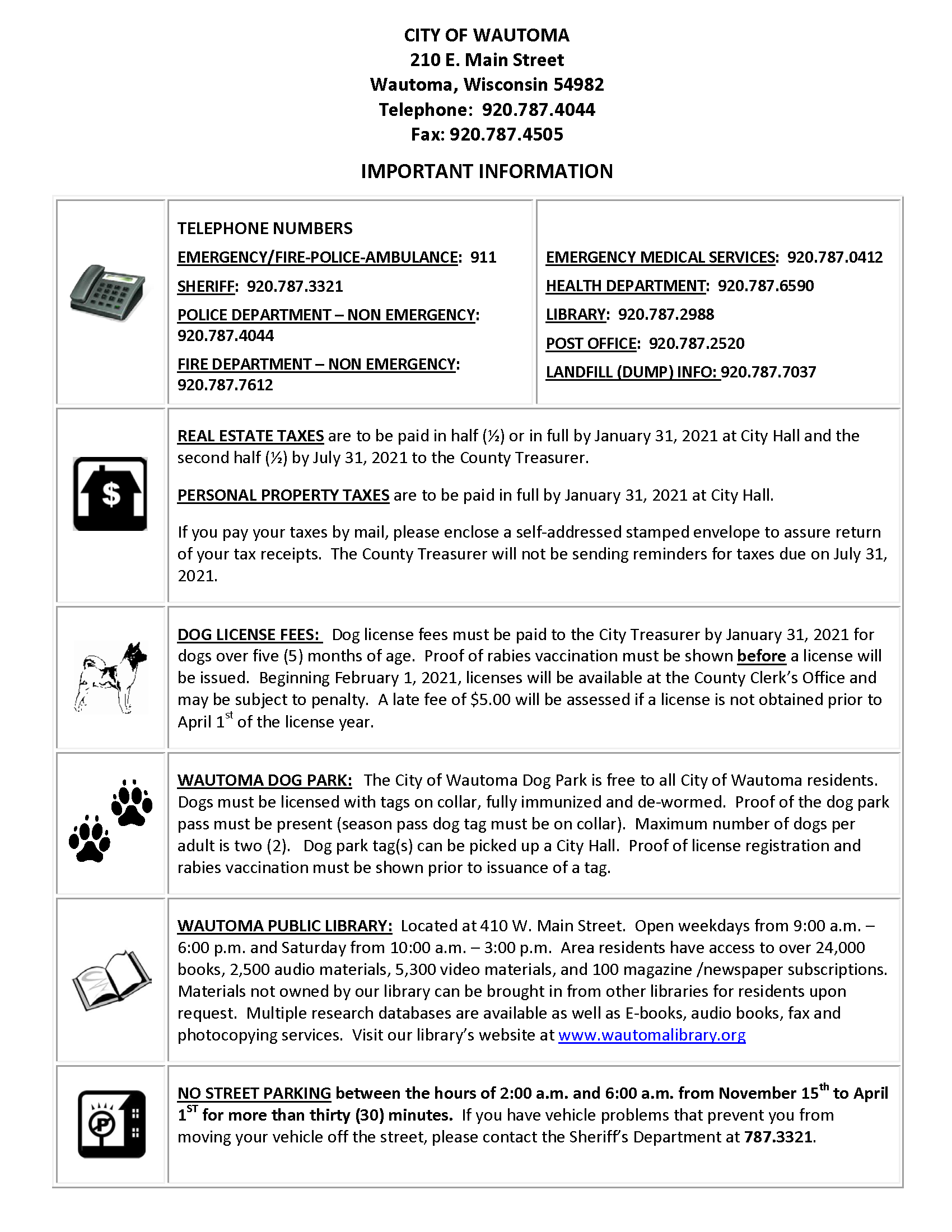2021 Important  Information Sheet_Page_1